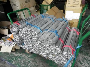 butted aluminum alloy bicycle frame tubes