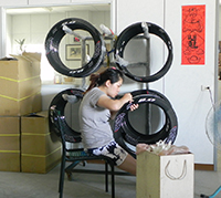 finishing bicycle carbon rim