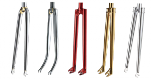 alloy and steel bicycle forks