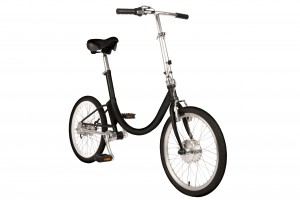 folding electric bike with front wheel dynamo